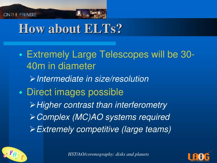 How about ELTs?