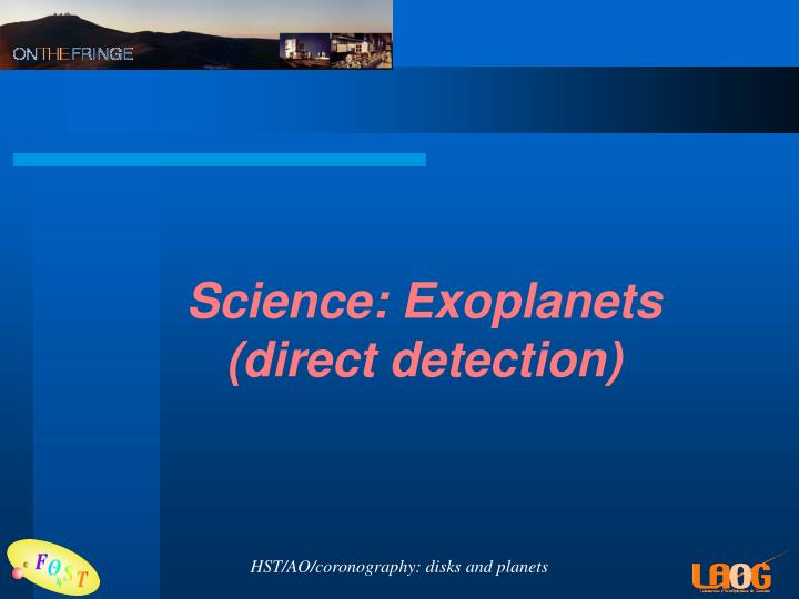 Science: Exoplanets
