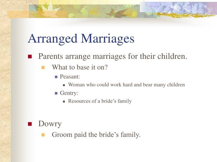 Arranged Marriages