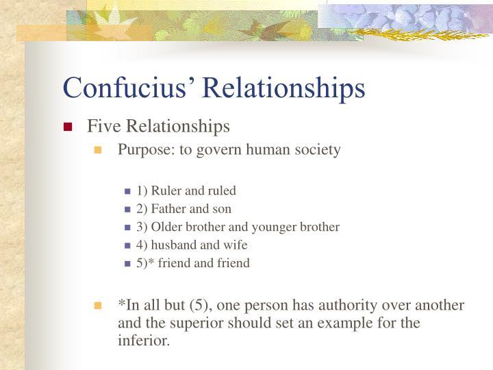 Confucius' Relationships