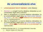az univerzaliz ci elve1
