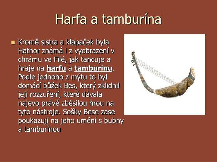 Harfa a tamburína