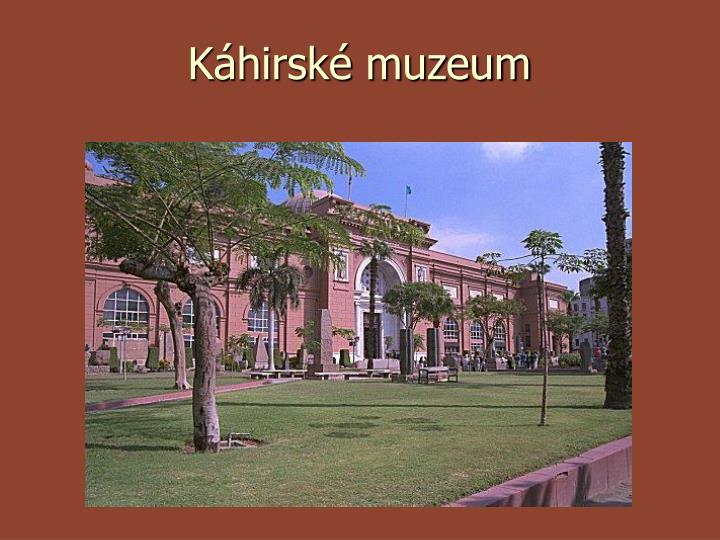 Káhirské muzeum