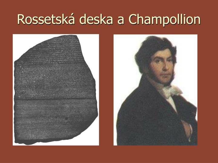 Rossetská deska a Champollion