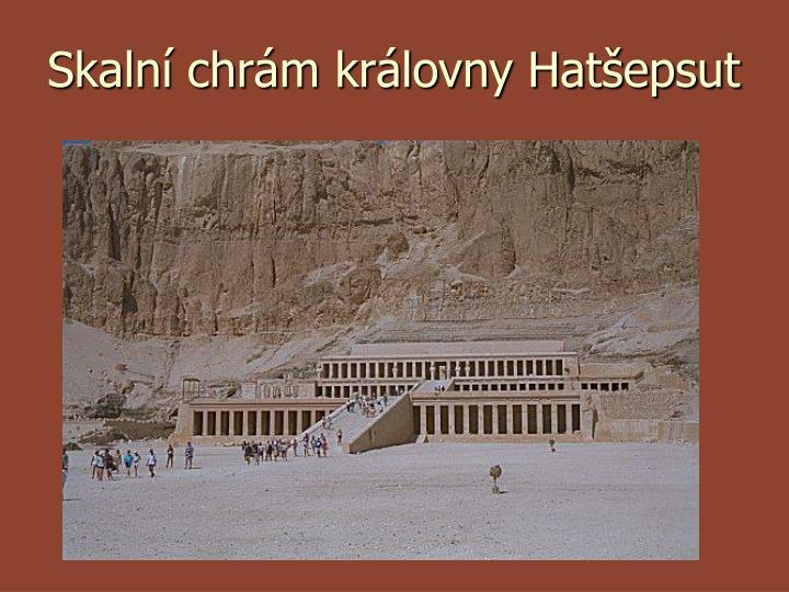 Skalní chrám královny Hatšepsut