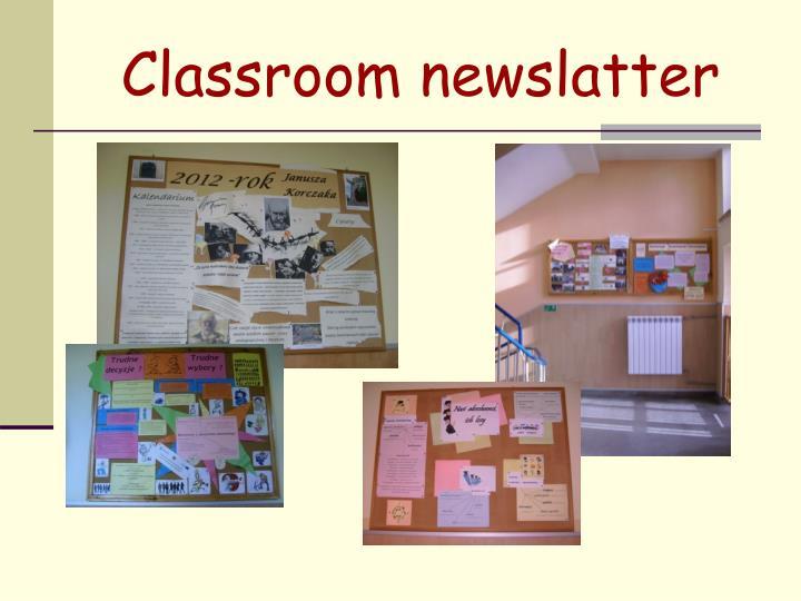 Classroom newslatter