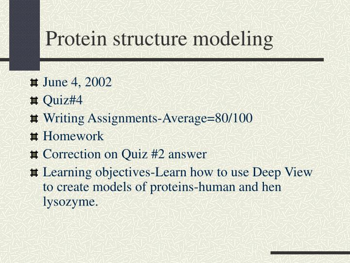 protein structure modeling