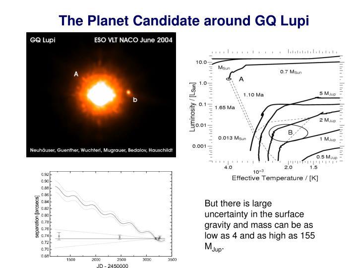 The Planet Candidate around GQ Lupi