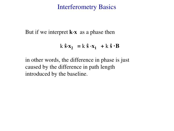 Interferometry Basics