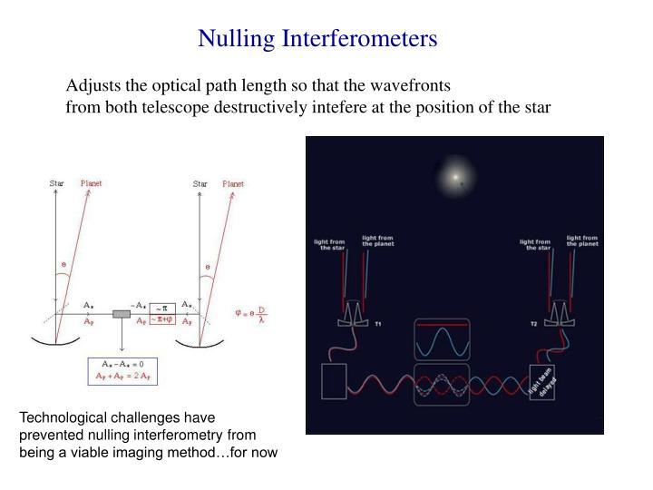 Nulling Interferometers