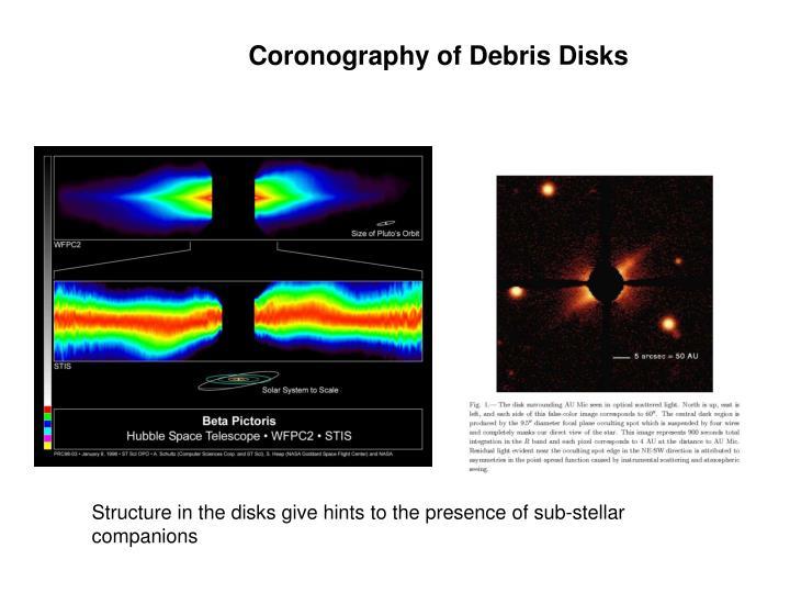 Coronography of Debris Disks