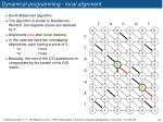 dynamical programming local alignment1