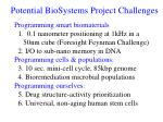 potential biosystems project challenges1