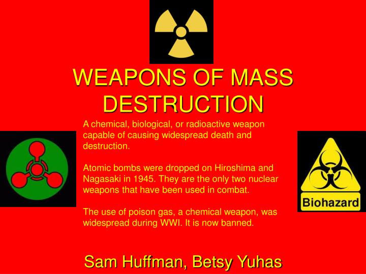 understanding chemical biological weapons A chemical weapon utilizes a manufactured chemical to incapacitate, harm, or kill people strictly speaking, a chemical weapon relies on the physiological effects of a chemical, so agents used to produce smoke or flame, as herbicides, or for riot control, are not considered to be chemical weapons.