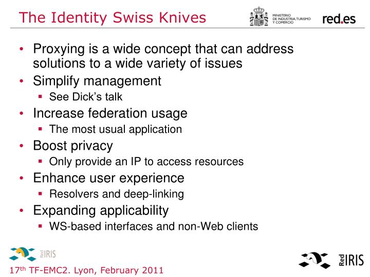 The Identity Swiss Knives