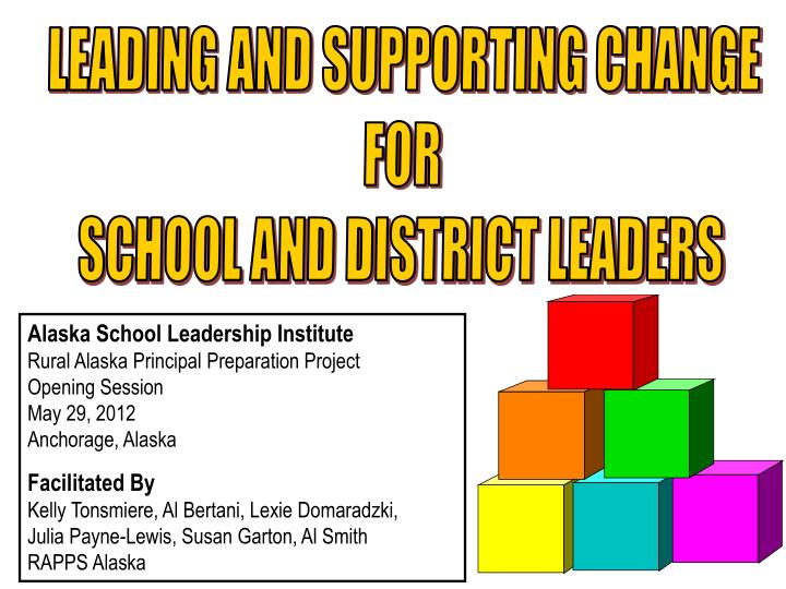 LEADING AND SUPPORTING CHANGE