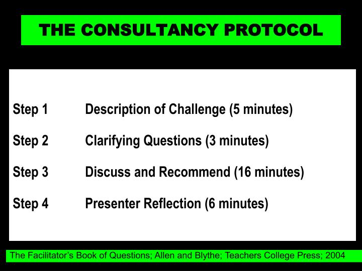 THE CONSULTANCY PROTOCOL