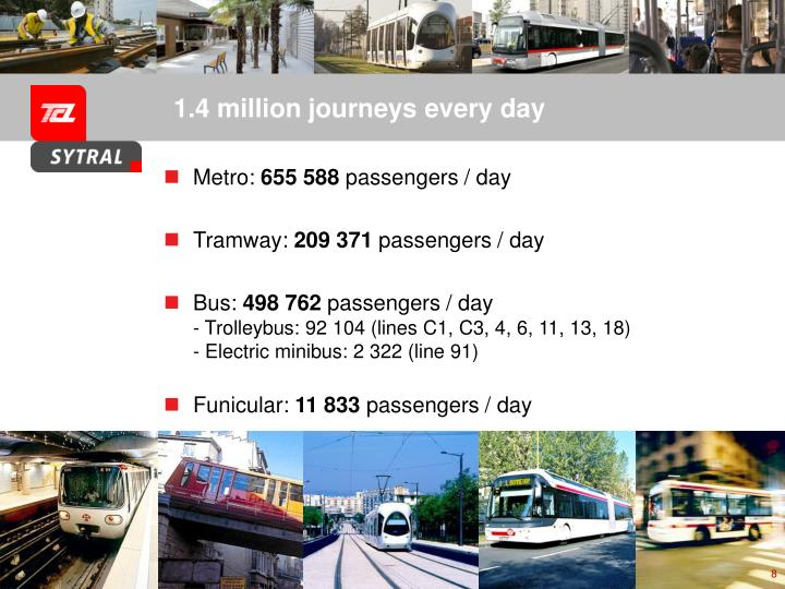 1.4 million journeys every day