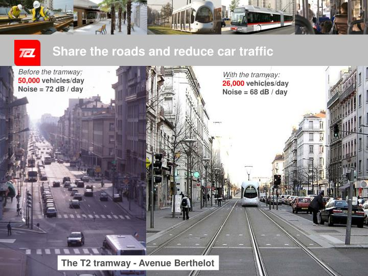 Share the roads and reduce car traffic