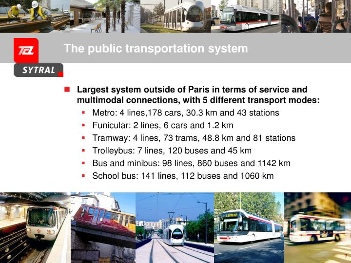 The public transportation system