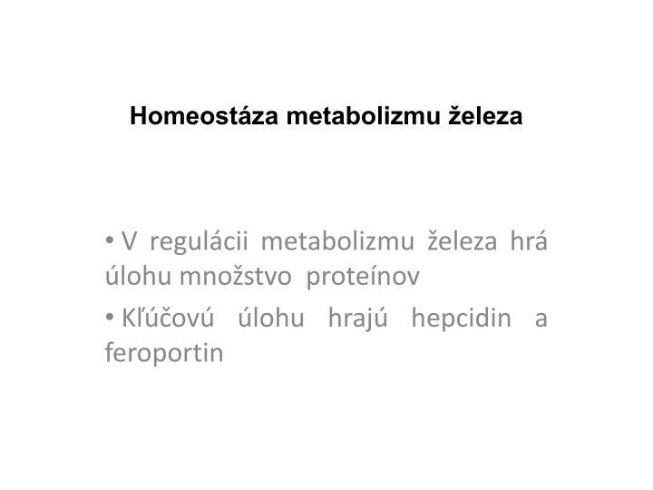 Homeost za metabolizmu eleza