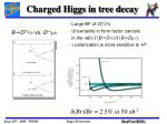 charged higgs in tree decay