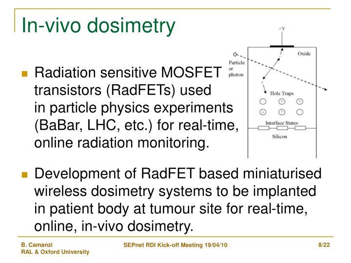 In-vivo dosimetry