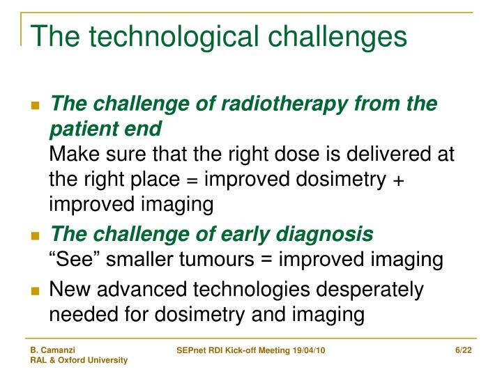 The technological challenges