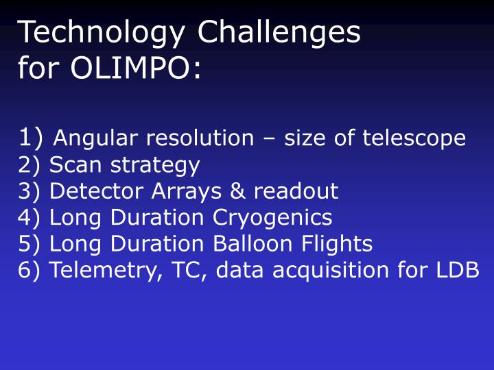 Technology Challenges