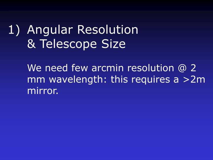Angular Resolution