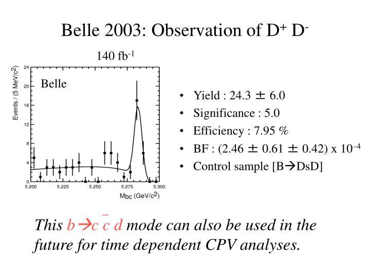 Belle 2003: Observation of D