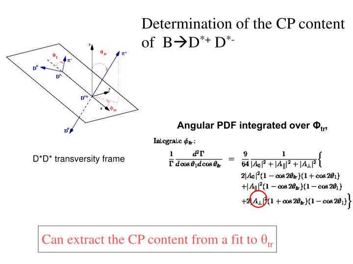 Determination of the CP content