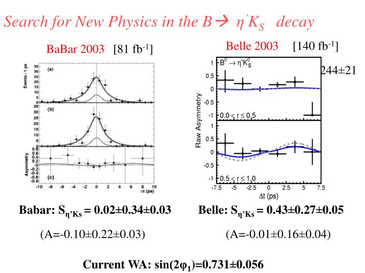 Search for New Physics in the B