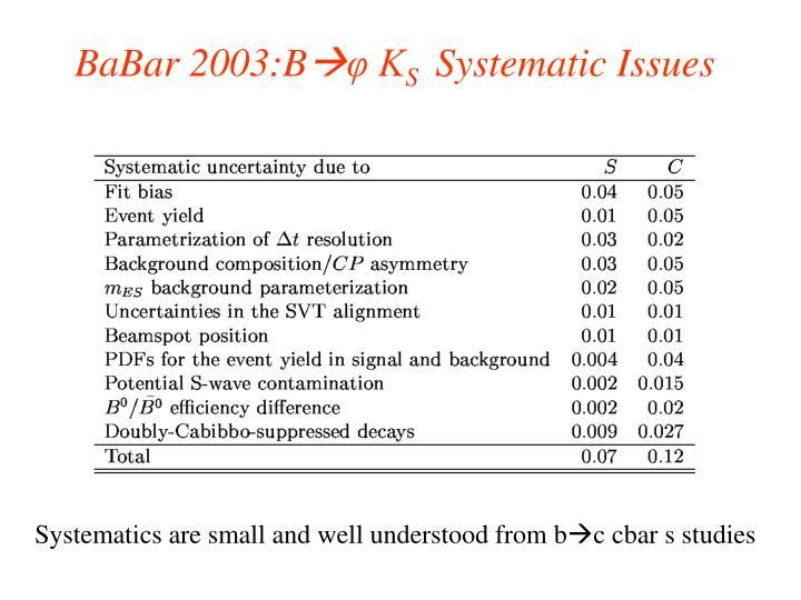 BaBar 2003:B