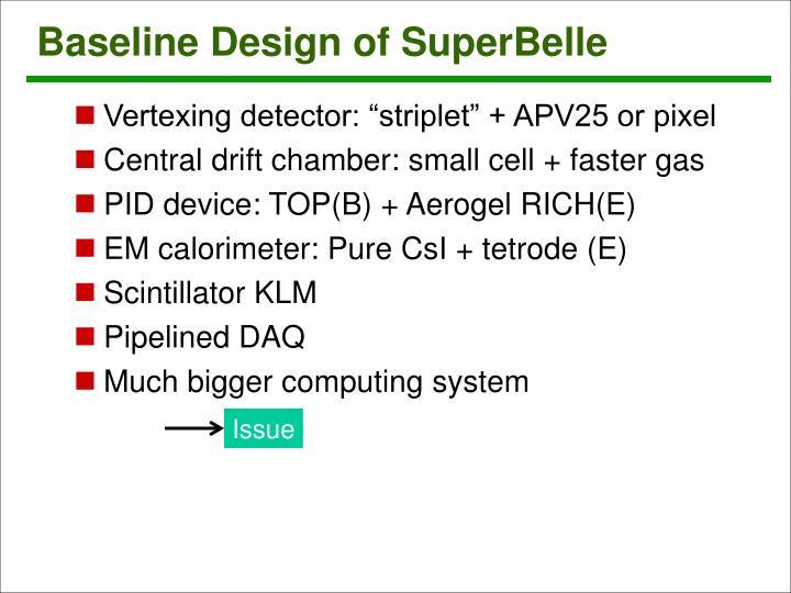 Baseline Design of SuperBelle