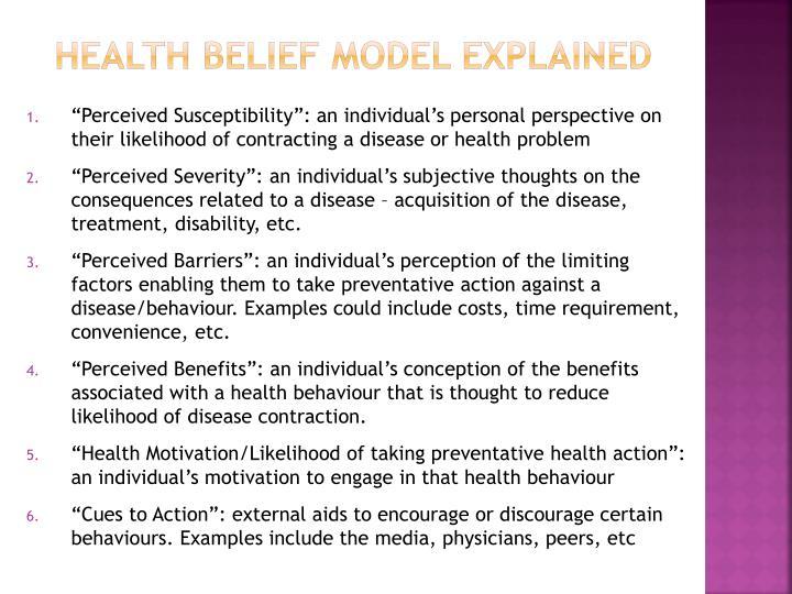 Health Belief Model Explained