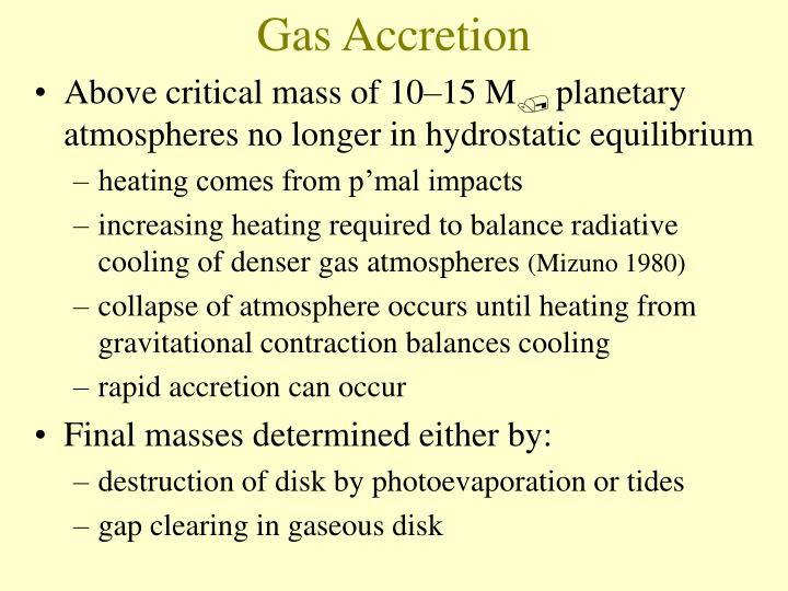 Gas Accretion