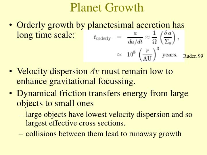 Planet Growth