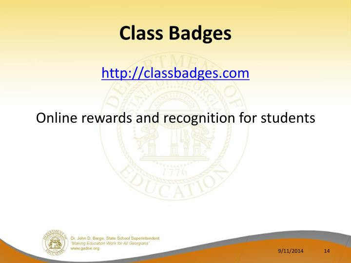 Class Badges