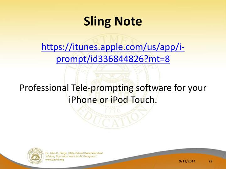 Sling Note