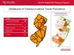 distribution of testing locations tracks prevalence