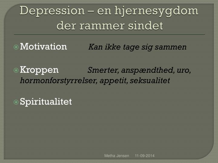 Depression – en hjernesygdom der rammer sindet