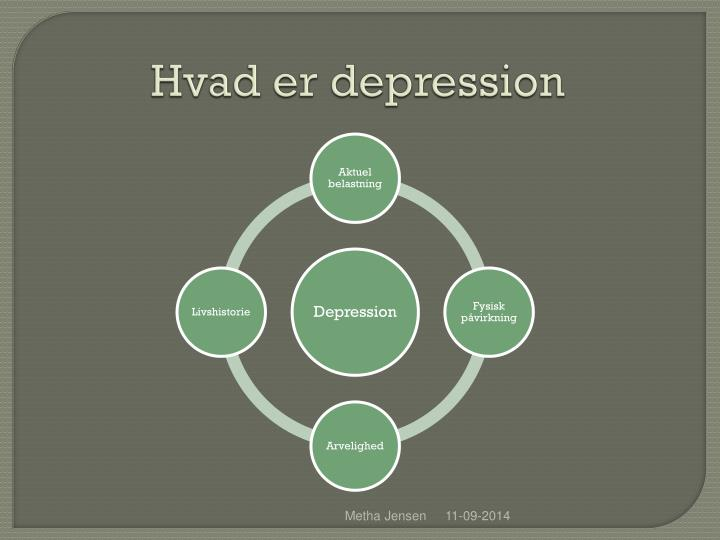 Hvad er depression