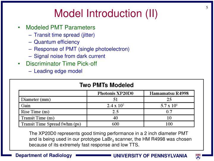 Model Introduction (II)