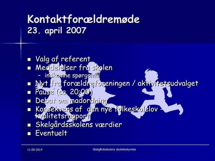 Kontaktfor ldrem de 23 april 2007