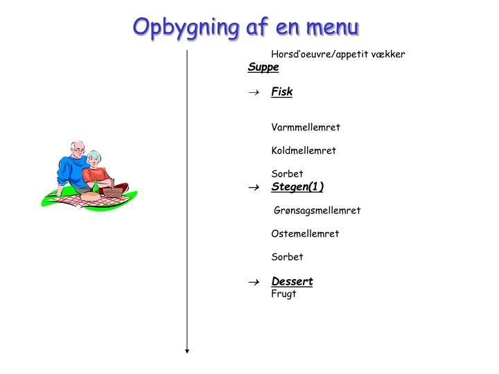 Opbygning af en menu