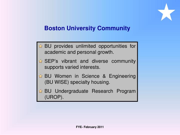 Boston University Community