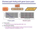 shortest path finding with gene fusion pairs