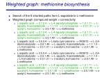 weighted graph methionine biosynthesis