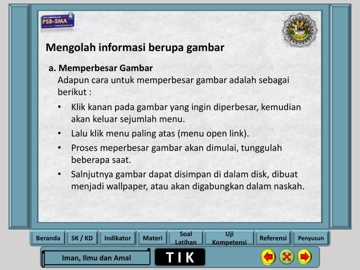 Mengolah informasi berupa gambar